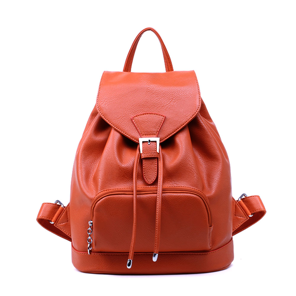Casual Simple Solid Color Backpack Travelling Bag