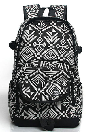 Retro Pop Stars Stripes Computer Travel Schoolbag Backpack Rucksack